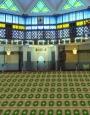 prayer carpet, khezra pattern, green