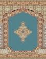 prayer carpet, khezra pattern, blue