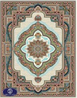 فرش 700 شانه طرح باغ معلق, توس مشهد , کرم