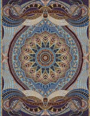 فرش ماشینی هزار شانه تراکم 3000 طرح پدیده,توس مشهد,آبی
