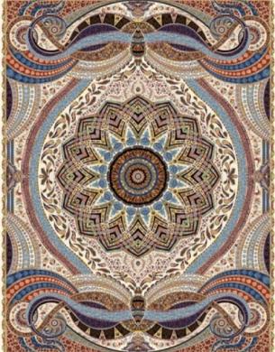 فرش ماشینی هزار شانه تراکم 3000 طرح پدیده,توس مشهد,کرم
