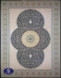 فرش 1200 شانه طرح الماس مشکی
