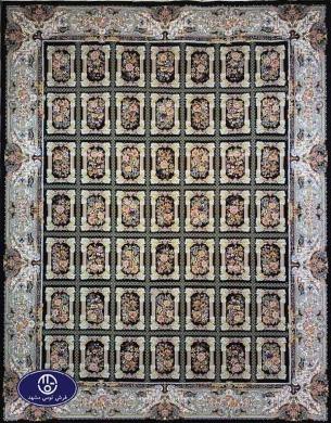 فرش1200 شانه طرح نازآفرین مشکی , توس مشهد