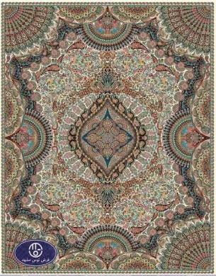 فرش ارزان 700 شانه کد 6026,توس مشهد,کرم