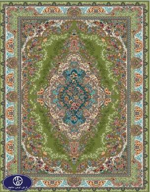فرش ارزان 700 شانه کد 6014,توس مشهد,سبز
