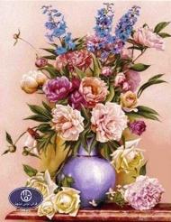 Flower tableau rug