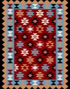 Machine made carpet, tribal pattern, code AB076