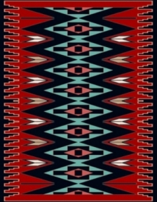 Machine made carpet, tribal pattern, code AB075