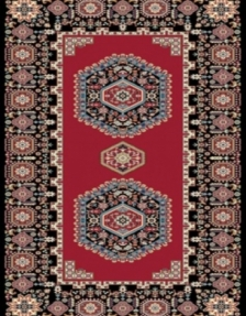 Machine made carpet, tribal pattern, code AB077