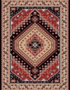 Machine made carpet, tribal pattern, code AB079
