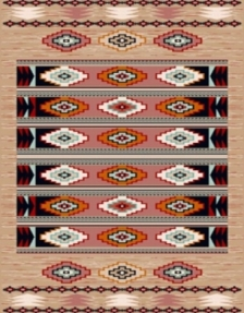 Machine made carpet, tribal pattern, code AB080