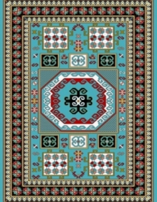 Machine made carpet, tribal pattern, code AB081