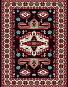 Machine made carpet, tribal pattern, code AB082