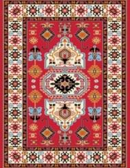 Machine made carpet, tribal pattern, code AB084