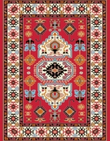 Machine made carpet, tribal pattern, code AB084