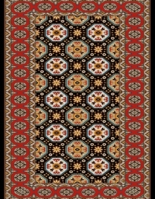 Machine made carpet, tribal pattern, code AB087