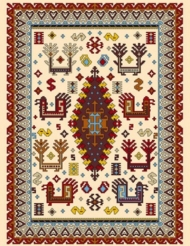 Machine made carpet, tribal pattern, code AB089