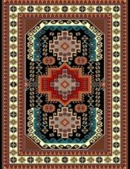 Machine made carpet, tribal pattern, code AB090