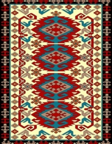 Machine made carpet, tribal pattern, code AB091
