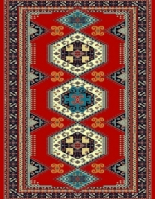 Machine made carpet, tribal pattern, code AB092