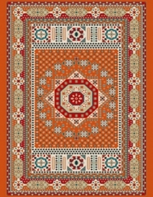 Machine made carpet, tribal pattern, code AB093