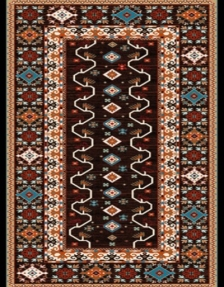 Machine made carpet, tribal pattern, code AB094