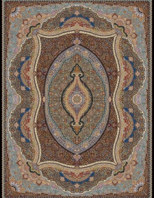 1000shoulder machine carpet, with 3000 density, Parnia design, Toos Mashhad