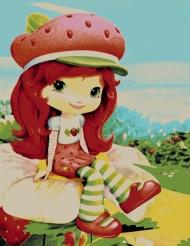 Strawberry girl puppet carpet,  Toos Mashhad