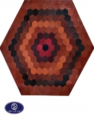 leather and skin rug, code 19