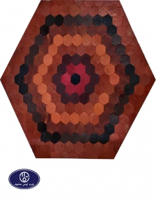 Toos Mashhad leather and skin rug, code 19