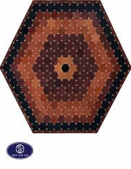 leather and skin rug, code 20