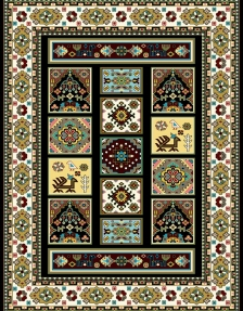 modern machine carpet design M06