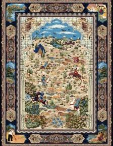 1000 machine carpet, with 3000 density and Parian design in Toos Mashhad