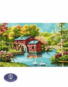 1200reeds tableau rug, 50*100 centimeters, code 2071T