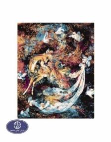 1200reeds tableau rug, 50*70 centimeters, code 2087T