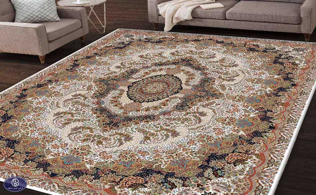 فرش 700 شانه طرح گل آرا