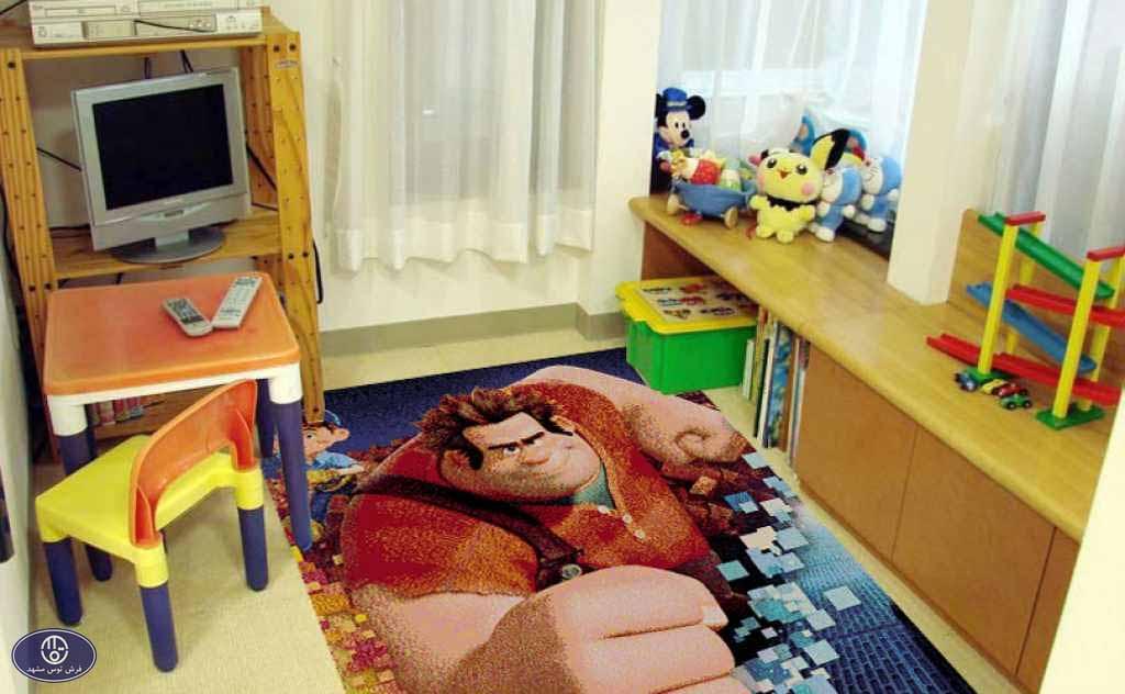 فرش عروسکی طرح رالف خرابکار