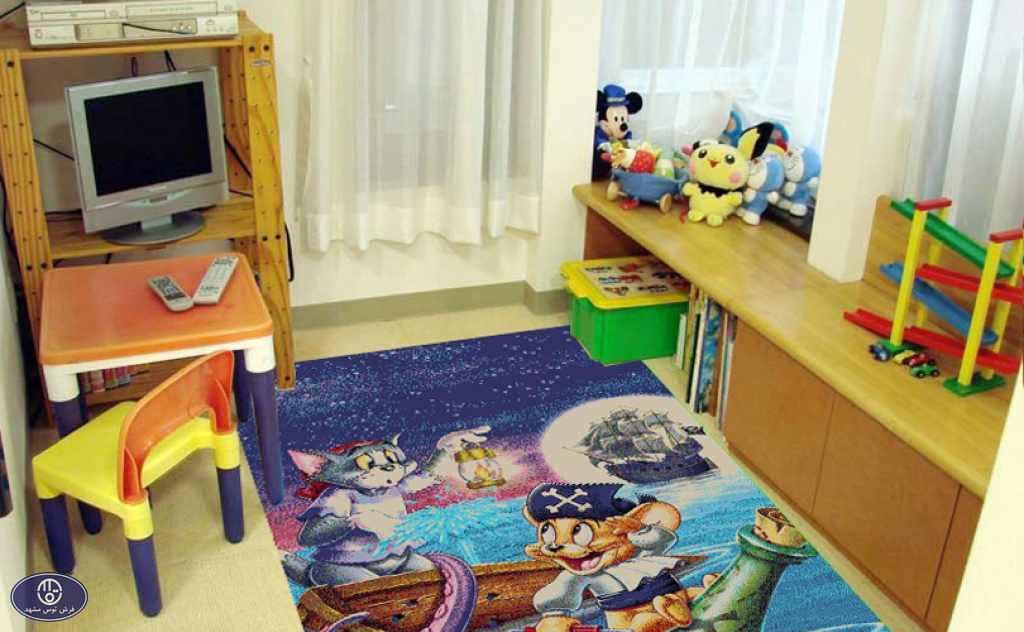 فرش عروسکی تام و جری