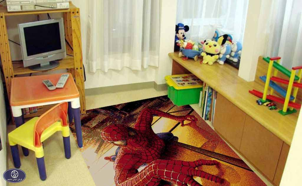 فرش عروسکی مرد عنکبوتی