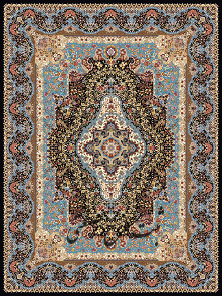 1000shoulder machine carpet, padeshah Toos design, Toos Mashhad