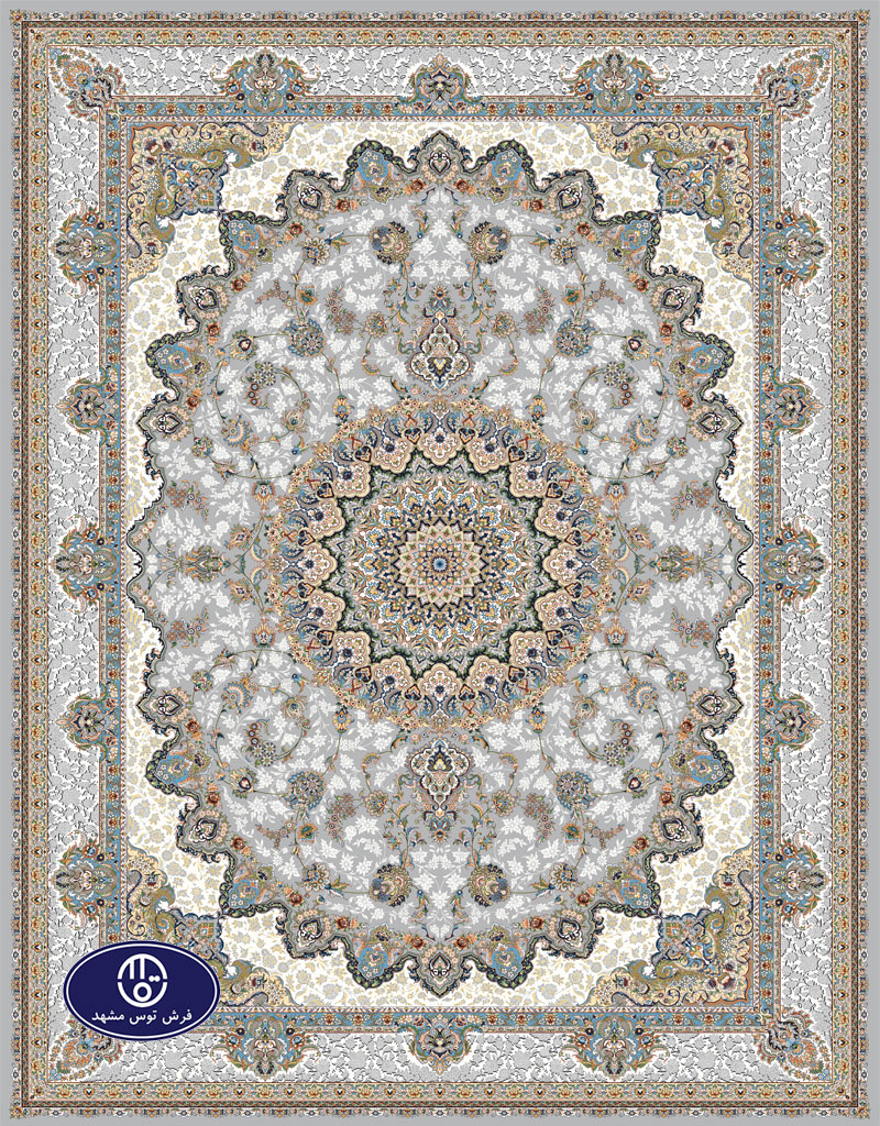 A 1000 shoulder floral carpet code 8011 in Toos Mashhad