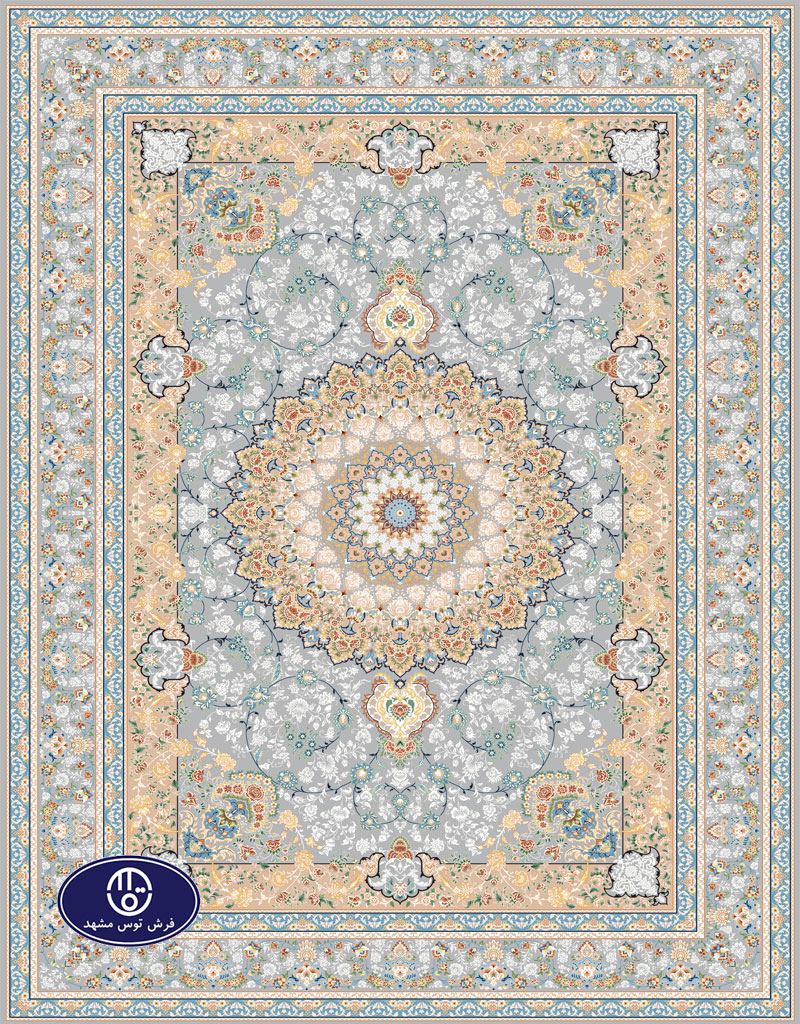 A 1000 shoulder floral carpet code 8028 in Toos Mashhad