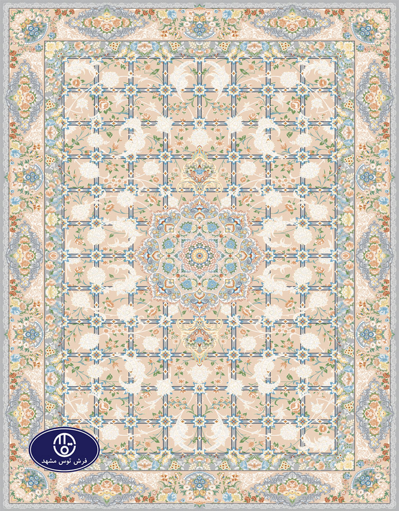 floral carpet code 8052 in Toos Mashhad