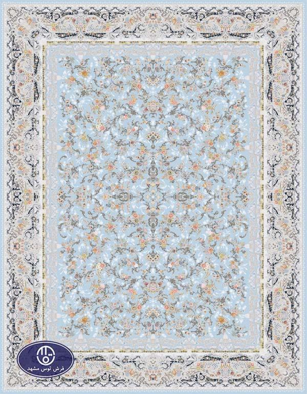 فرش 1500 شانه طرح روژان آبی
