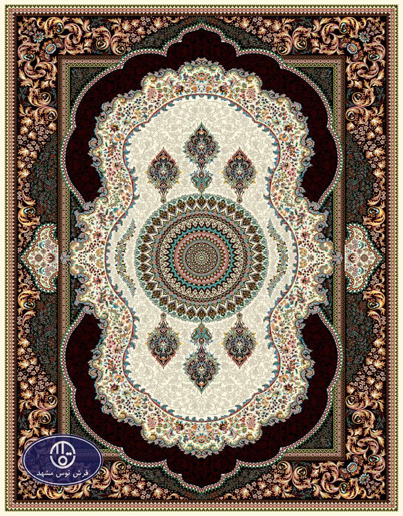 فرش ماشینی 700 شانه،شاهرخ،توس مشهد،کرم