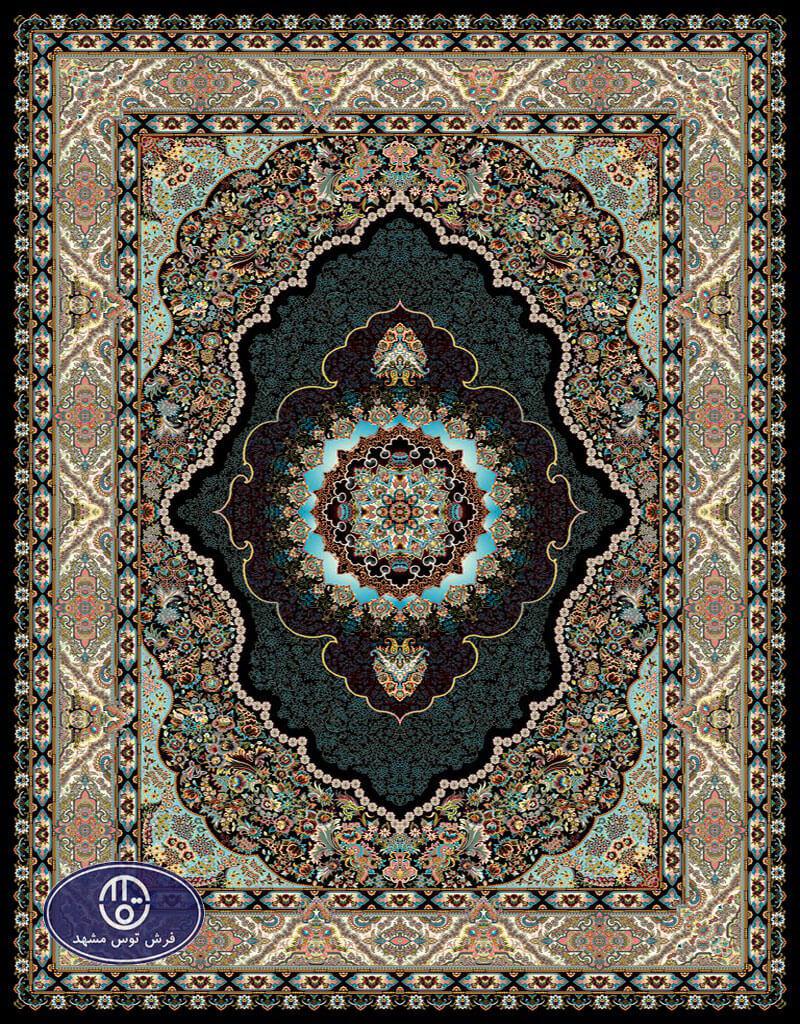 فرش 700 شانه طرح شایلین کد 7083،توس مشهد،سورمه ای