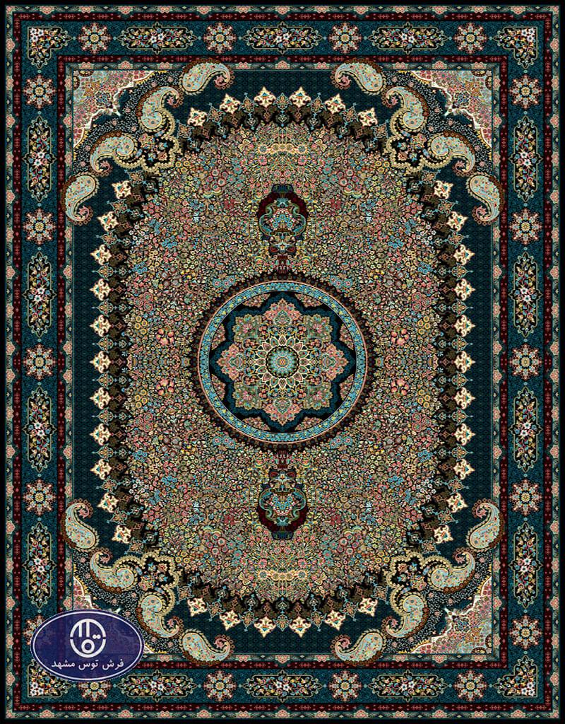 فرش 700 شانه طرح شهناز کد 7081،توس مشهد،سرمه ای