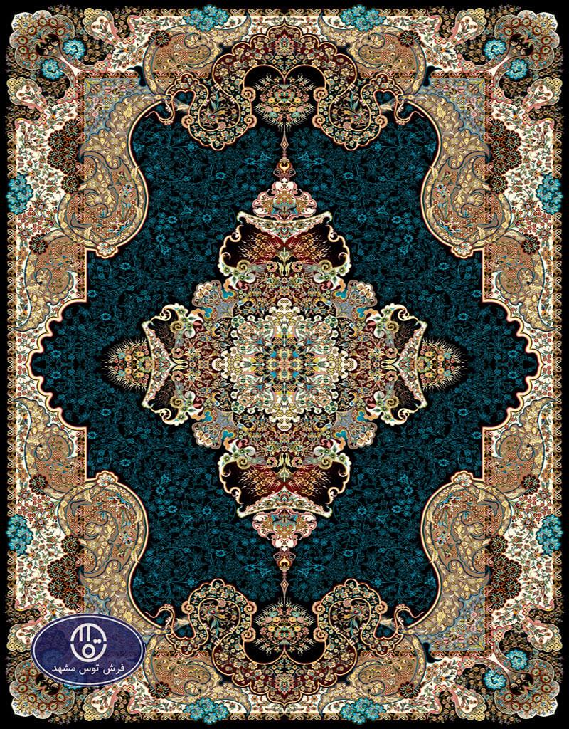 فرش 700 شانه طرح شیفته کد 7009،توس مشهد،سورمه ای