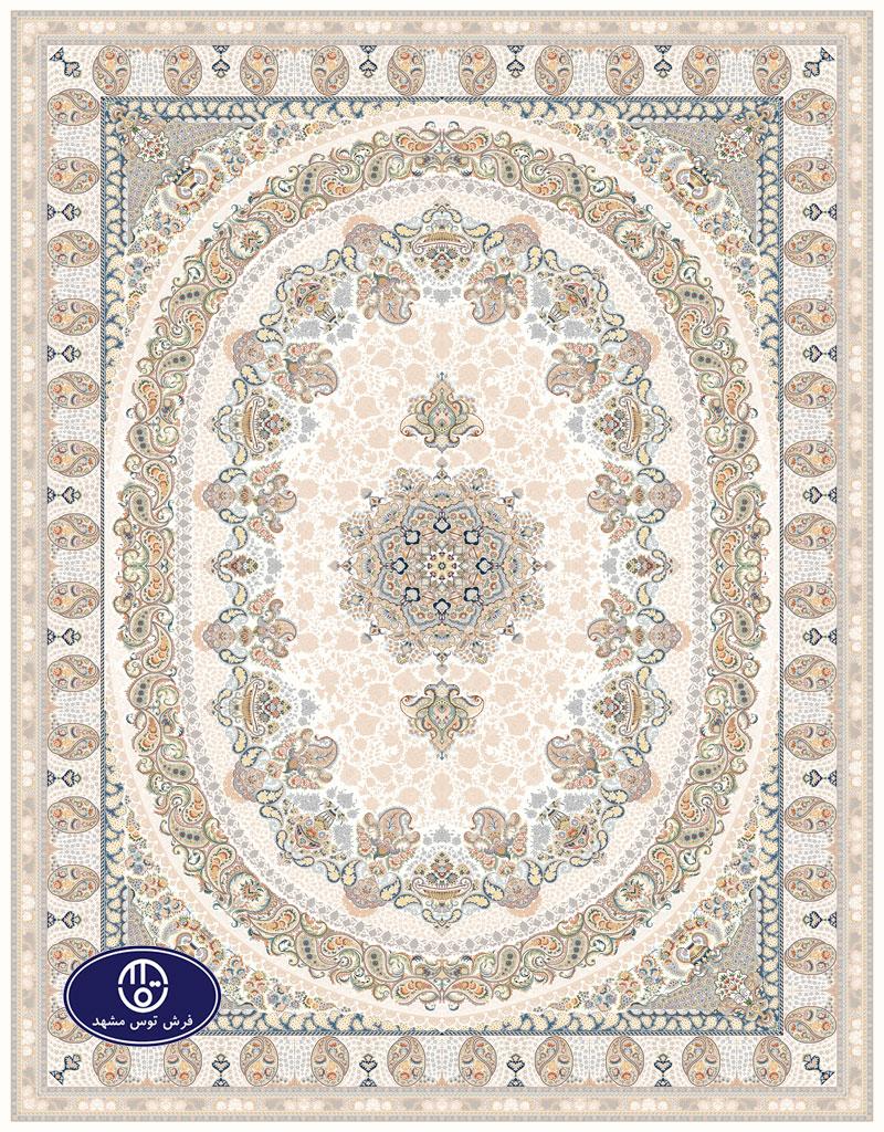 فرش گل برجسته 1000 شانه،توس مشهد،شکلاتی 8021