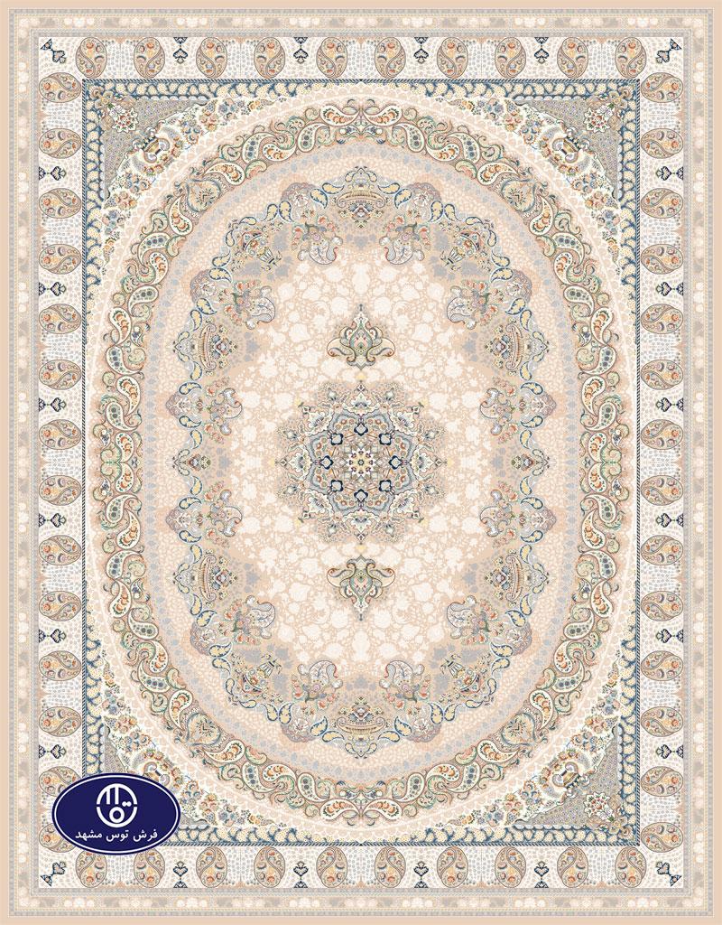 فرش گل برجسته 1000 شانه،توس مشهد،شکلاتی 8022